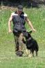 На  тренировке  со своей собакой.