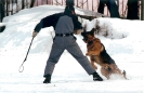 На тренировке по защитному разделу.